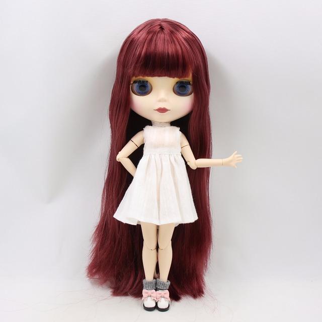 TBL Neo Blythe lutka ravna crvena kosa spojena tijela