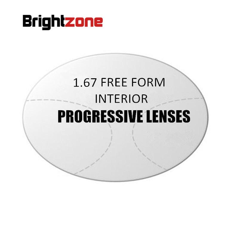 1 67 Interior Progressive Multi focus HMC CR 39 Resin Lenses Prescription Rx Lenses One lenses