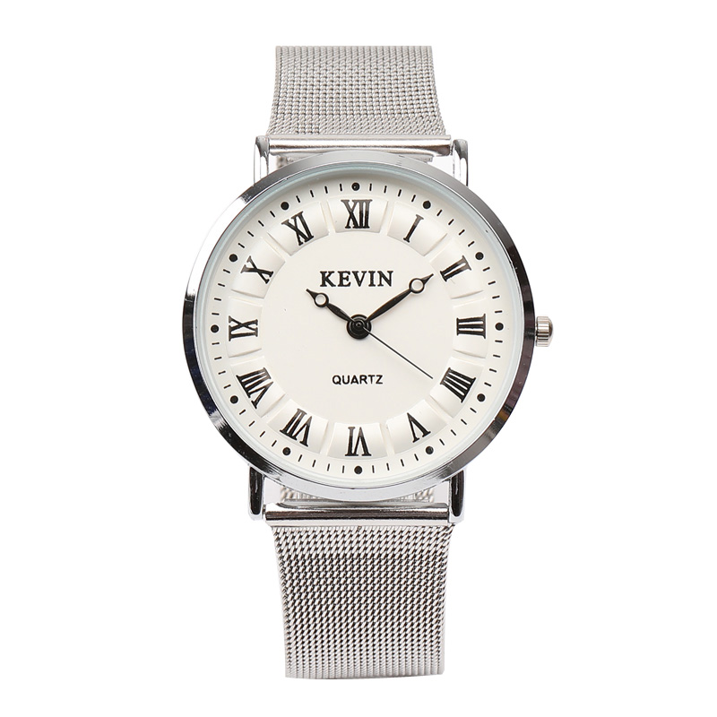 Men's Watches KEVIN Fashion Sports quartz-watch stainless steel mesh Brand men watches Multi-function Wristwatches Chronograph fashion men s casual quartz watch stainless steel mesh band gold watch slim men watches multi function sports watches relogio