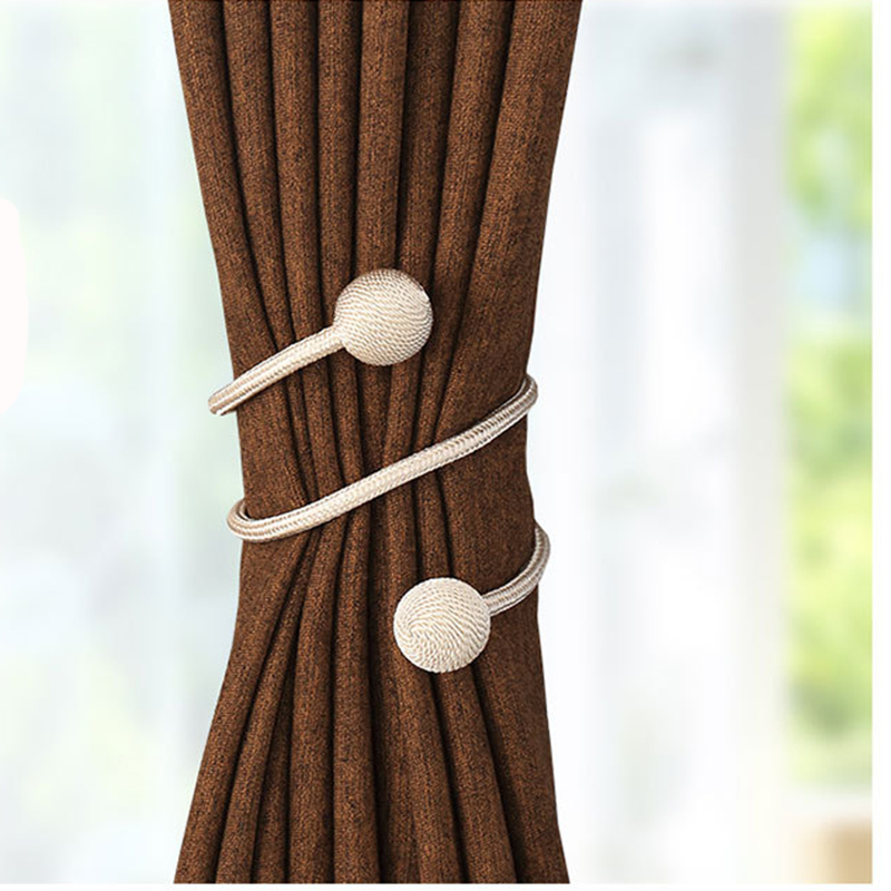 Simple Optional Shape Curtain Tiebacks Curtain Clasp Ribbon Accessories Holdback Hook Hanger Decoration Tieback 15 Kinds color