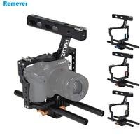 Date Rod Rig DSLR Vidéo Cage Caméra Stabilisateur + Top Poignée Grip Steadicam pour Sony A7 A7r A7r A7s A7s II Panasonic DMC-GH4