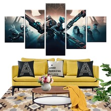 5 Piece Games Art Print Warframe Video Game Poster Science Fiction Fantasy Wall Paintings for Home Decor