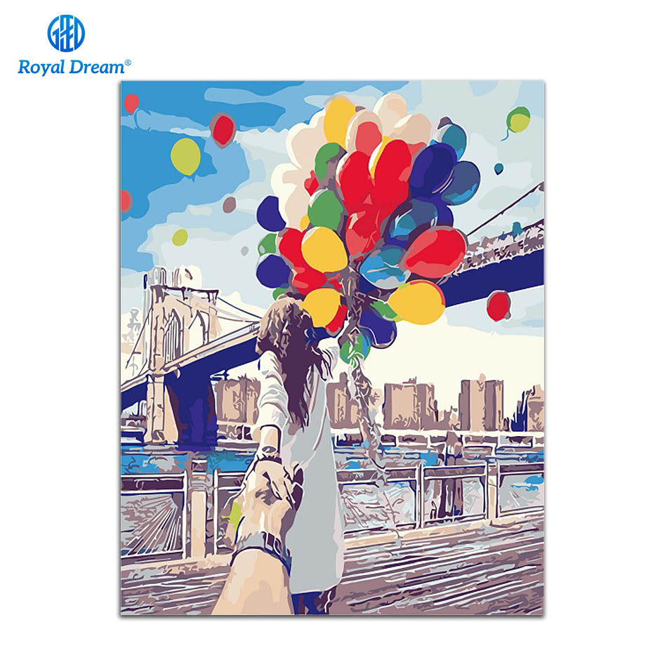 Holding Hands DIY Oil Painting By Numbers Modern Home Wall Art Picture Kits Acrylic Hand Painted Oil Painting For Gift