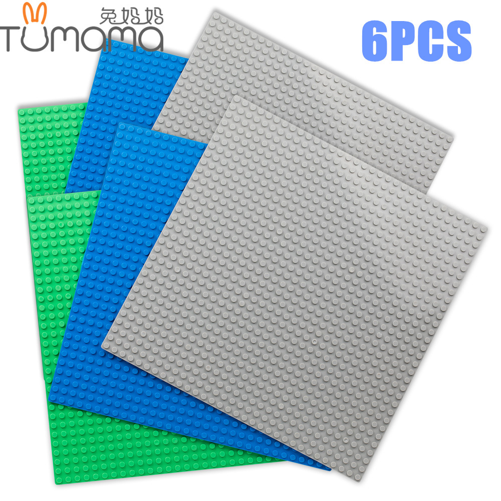 6pcs/set 32*32 Dots Base Plate for Small Bricks Baseplate Board Compatible Legoed minecrafted DIY Building Blocks Toys For Kids ynynoo new 32 32 dots not easy to break dots small blocks base plate building blocks diy baseplate compatible major brand blocks