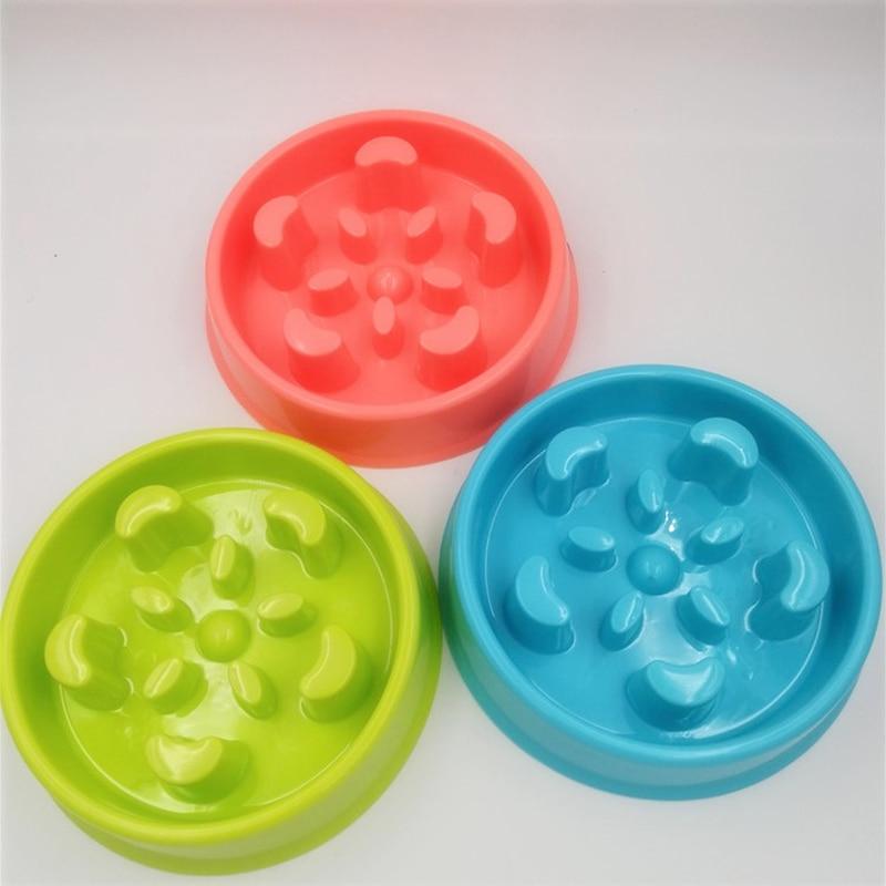 Anti-Choking Dog Feeding Bowls Resistance Bite Thick Square/