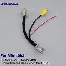 Автомобильная камера заднего вида RCA адаптер провода для Mitsubishi Outlander ES RCA соединительный кабель