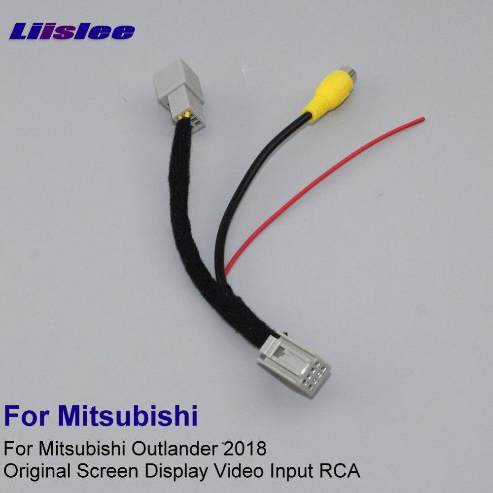 Liislee Voiture Arrière Vue Caméra RCA Adaptateur Fil Pour Mitsubishi Outlander ES 2018 D'origine RCA Connecteur Câble