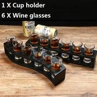 OUSSIRRO Shot Glass 30ml White Wine Glass B52 Cup Holder Set Household L2137