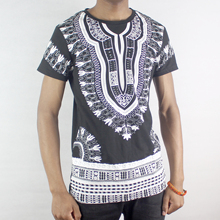 Dashikiage Cotton Dashiki Printed Traditional T-shirt hip hop African Clothes Casual Man tops & tees 2019