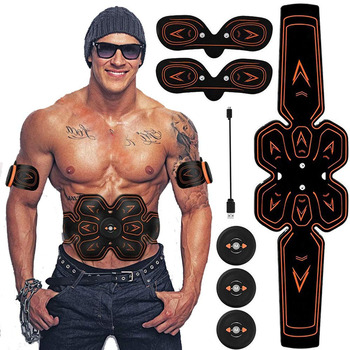 ABS estimulador muscular EMS Abdomen muscular entrenador Toner cinturón tonificador de gimnasio en casa Oficina Fitness brazo/pierna vibración Fitness masajeador
