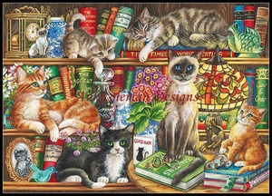 Image 5 - Cat Collection 2   Counted Cross Stitch Kits   DMC Color DIY Handmade Needlework for Embroidery 14 ct Cross Stitch Sets