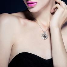 Black Paw Print Necklace