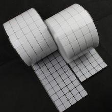 100 Pairs 20*20mm Yapışkanlı Raptiye Bant Naylon Polyester cırt cırt Kare Sihirli Etiket Bant Güçlü Kendinden Yapışkanlı Bant