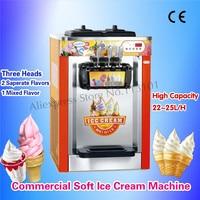 Desktop Commercial Ice Cream Making Machine Three Nozzles