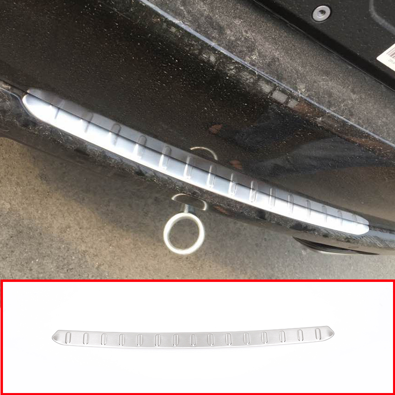 For Land Rover Range Rover Sport 2018 304 Stainless Steel Outside Rear Bumper Protector Plate Trim tail Trunk Guard Trim For Land Rover Range Rover Sport 2018 304 Stainless Steel Outside Rear Bumper Protector Plate Trim tail Trunk Guard Trim