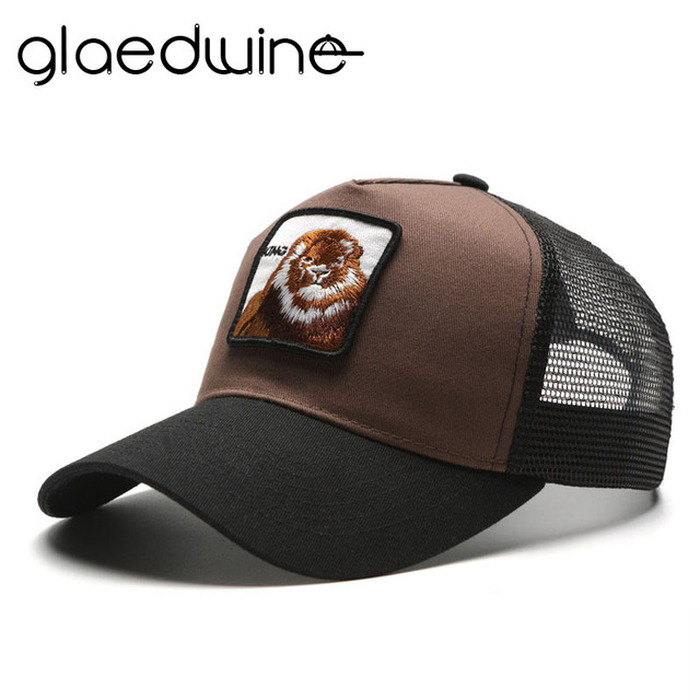 Glaedwine 2017 snapback camionero malla gorra de béisbol mujer hombres mujeres  casquette gorras planas King snapback 8a28e593fbe