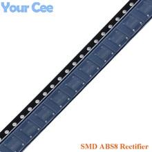 Passivation-Rectifier-Bridge SMD Abs8-0.8/1a 100pcs Single-Phase Glass 800V Original