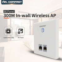 COMFAST CF E535N 300Mbps In wall 2.4GHz Wireless AP Router for Hotel Room & VLAN and Access RJ45 /RJ11 wireless wall wi fi AP