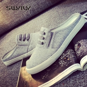 Image 2 - SWYIVY 44 Unix Sneakers 2018 Spring Summer Woman Canvas Slippers Lovers Casual Slip On Lazy Shoes Female Breathable Sneakers