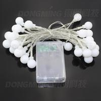 Wholesale Outdoor Lighting 3m LED Ball String Lamps Sliver Wire Christmas Lights Fairy Wedding Garden Decorative
