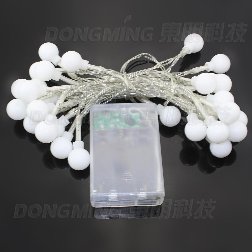 Wholesale Outdoor lighting 3m LED Ball string lamps sliver wire Christmas Lights fairy wedding garden, decorative ball light