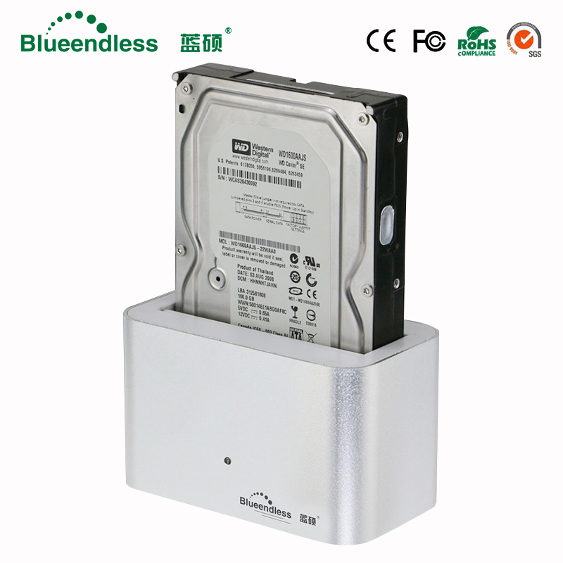 1 bay hdd docking station sata usb3.0 case para hdd <font><b>3.5</b></font> disco duro externo case aluminum case <font><b>hd</b></font> <font><b>3.5</b></font> for 6tb high quality metal image