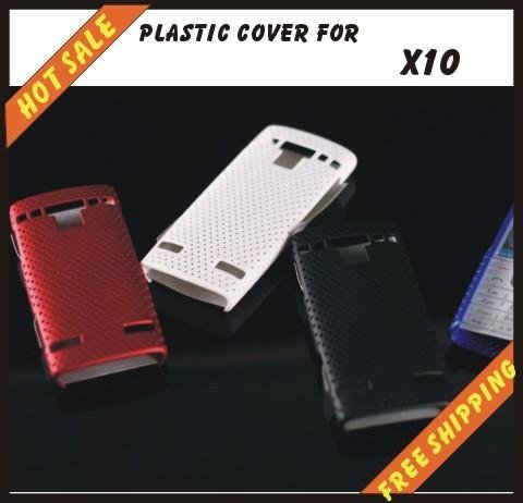 Free shipping --New high quality more colours plastic cover case mobile phone cellphone for SONY Ericsson X10