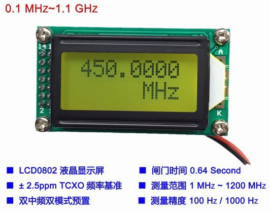 Frequency Measuring Tools : High precision frequency meter measuring device