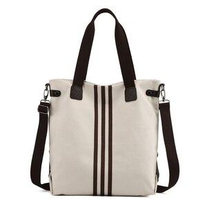 Image 4 - Nieuwe Eenvoudige Grote Capaciteit Ontwerp Canvas Vrouwen Messenger Bag Mode Meisjes Handtas Schoudertas Dagelijkse Boodschappentas
