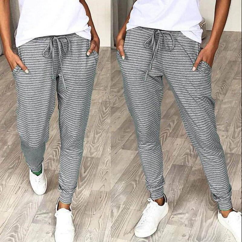 Summer Casual Pants Womens High Waist Loose Straight Nine Pants Womens Exercise Trousers  OL Pants Womens Slacks
