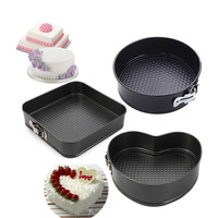 New arrival Heart Square Round Steel Nonstick Gift Baking Dishes Pans Removable Bottom Bakeware Springform Pan Cake Pans