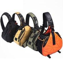 DSLR Камера видео слинг плеча Креста тела Холст Водонепроницаемый мягкие Для мужчин Для женщин сумка для Canon Nikon sony K1 K2