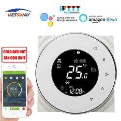 HESSWAY TUYA 2 fan tubo di bobina wifi termostato a temperatura controllata per il Sensore NTC 10 K Funziona con Alexa Google casa