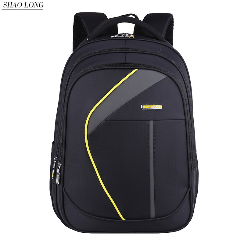 Men's Nylon Black Backpack Waterproof 15 Inch Laptop Back Pack Male Business Knapsack Casual Travel Backpacks Bags Mochila 2017 sinpaid 3 size backpack waterproof men s back pack 15 6 inch laptop mochila high quality designer backpacks male escolar ff