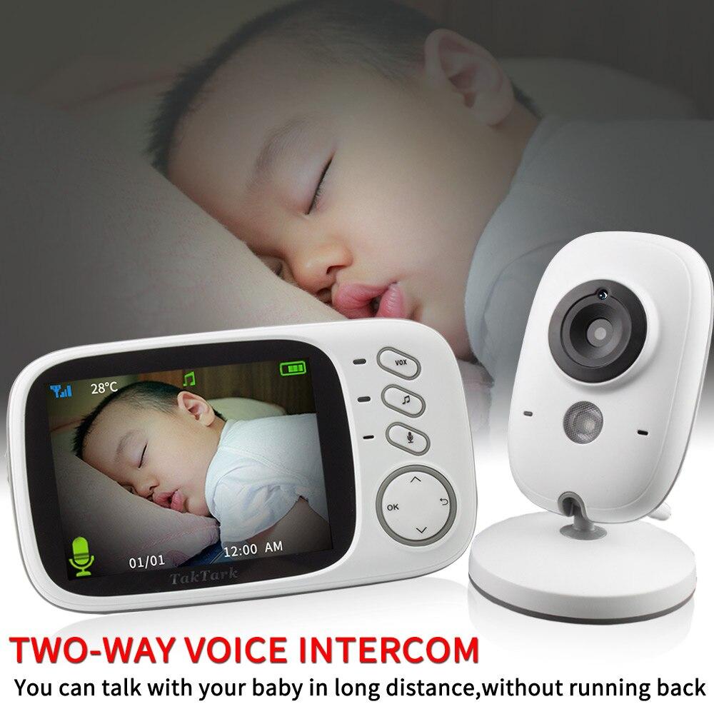 3.2 pouces Sans Fil Vidéo Couleur moniteur pour bébé Haute Résolution Bébé Nounou caméra de sécurité vision nocturne Surveillance de La Température - 3