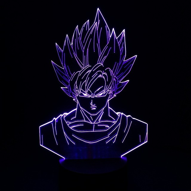 Dragon Ball Z Super Saiyan God Goku 3D Table Lamp