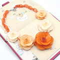 collares acrylic flower necklace 2017 ZHONGLV Fashion Luxury 2 color Flower ZA Statement Necklaces for Women fine choker Jewelry