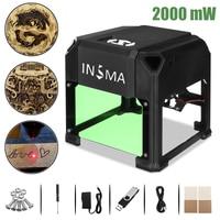 2000 mW CNC Laser Engraver DIY Logo Mark Printer Cutter Laser Engraving Machine Woodworking 80x80mm Engraving Range