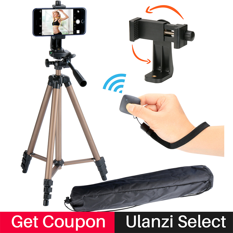 Ulanzi Smartphone Tripod for iPhone X DV Camera DSLR,Tabletop Tripod w 360 degree phone tripod adapter for Broadcast Livestream