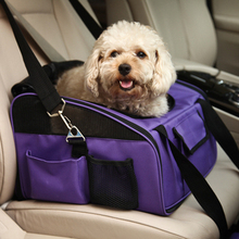 Free shipping portable collapsible nylon Multifunctional pet car carrier  safe small dog bag