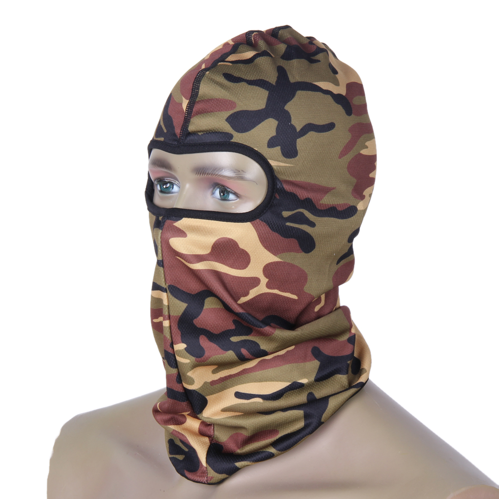 Outdoor Jungle Camouflage Full Face Mask Tactical Cycling Mask Motorcycle Windproof Spor ...