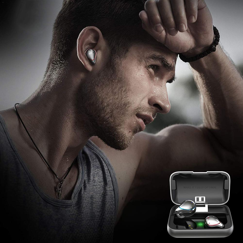 5.0 Headphones Bluetooth Waterproof Sports Headphones Earbuds Hi-Fi Audio Wireless Headset 2600mAH Portable Charge Box5.0 Headphones Bluetooth Waterproof Sports Headphones Earbuds Hi-Fi Audio Wireless Headset 2600mAH Portable Charge Box