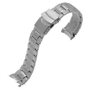 Image 5 - ENXI נירוסטה watchbands עבור EF 544 החלפת מתכת צמיד עבור casio גברים של צמיד