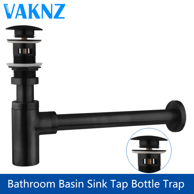 Luxury Bottle Trap Br Round Siphon Oil Rubbed Bronze Black P Bathroom Vanity Basin