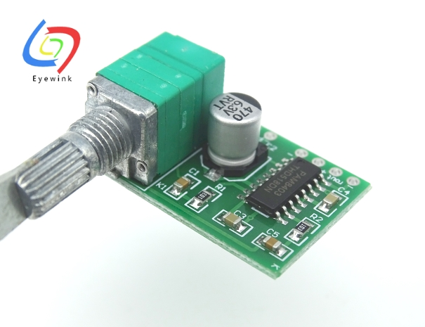 EYEWINK 10pcs/lot PAM8403 Mini 5V Digital Amplifier Board With Switch Potentiometer Can Be USB Powered(China)