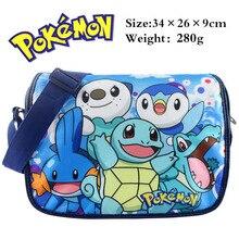 Anime Squirtle Blastoise Pikachu Messenger Schulter Schultasche Für Studenten Kinder Kinder Jungen Mädchen Leinwand Taschen