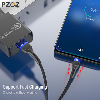 PZOZ Micro USB Cable Fast Charging 3A Microusb Cord For Samsung S7 Xiaomi Redmi Note 5 Pro Android Phone cable Micro usb charger 1