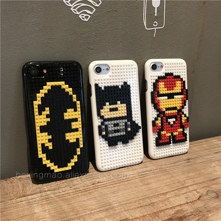 reputable site 51984 af6a4 US $5.06 |Luxury Legos Building blocks toy DIY Phone Cases For Iphone 6 6S  6plus 6splus 7 7 Plus Cartoon 3D Coque Cover Capa 4.7 5.5 on Aliexpress.com  ...