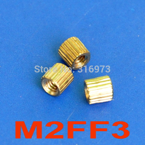 (1000 pcs/lot) <font><b>3mm</b></font> Threaded <font><b>M2</b></font> Brass Female-Female Standoff, Spacer. image