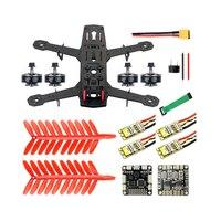 250 Full Set DIY FPV Quadcopter Camera Drone 250MM Carbon Fiber Frame F3 FC Flycolor Raptor BLS Pro 30A ESC 700TVL Camera FS I6
